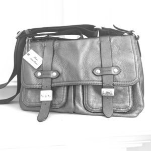 Ralph Lauren leather shoulder bag.
